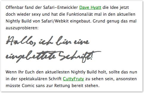 Safari Font Embedding