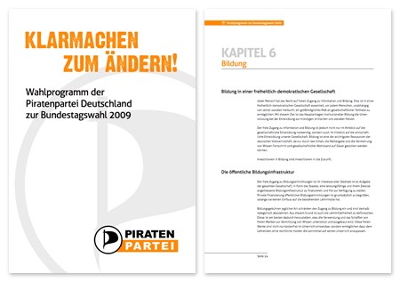 Piraten Wahlprogramm 2009