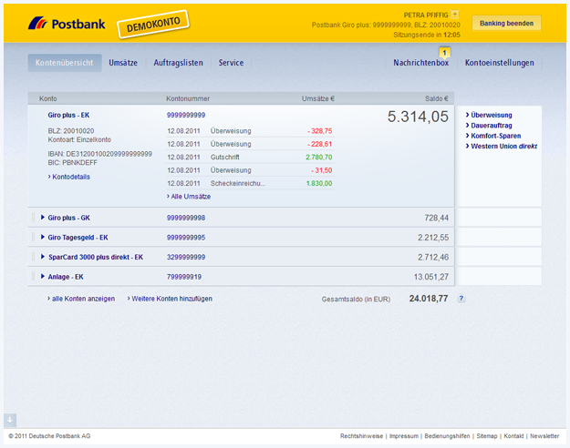 Postbank KontoauszГјge Online
