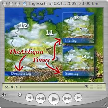 Typo pfusch im tagesschau wetter update for Fliegen in blumenerde kaffeesatz