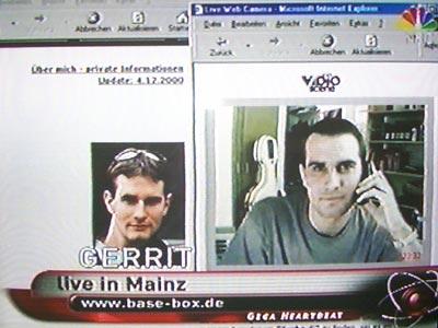 Gerrit live per Webcam