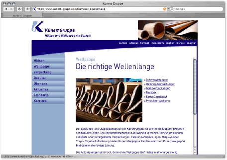 Kunert Gruppe Website