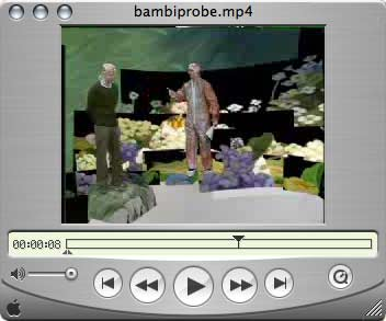 Bambi im Quicktime-Player