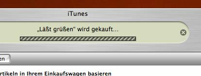 Screen vom iTunes MusicStore