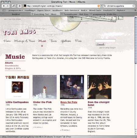 Tori Amos Website