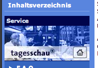 Screenshot der Tagesschau.de