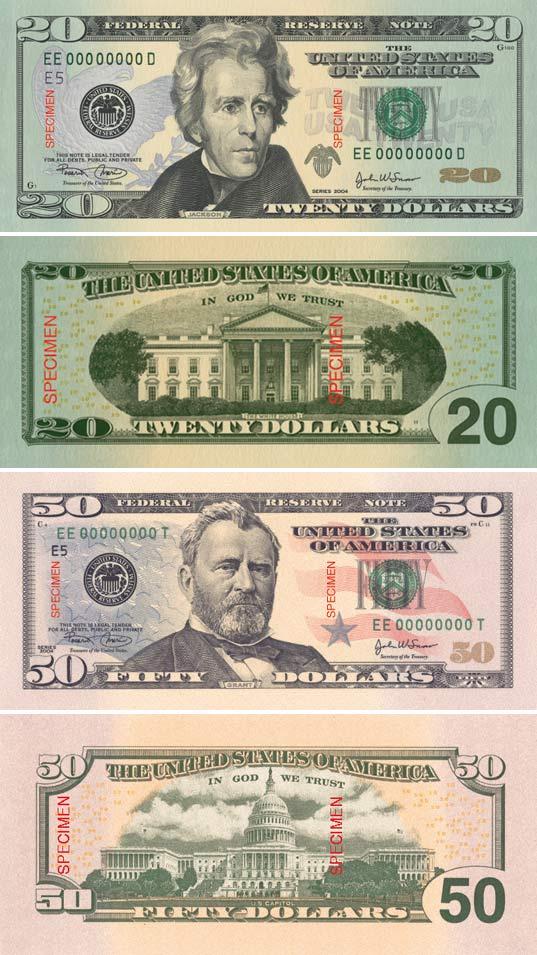 Neue Dollarnoten