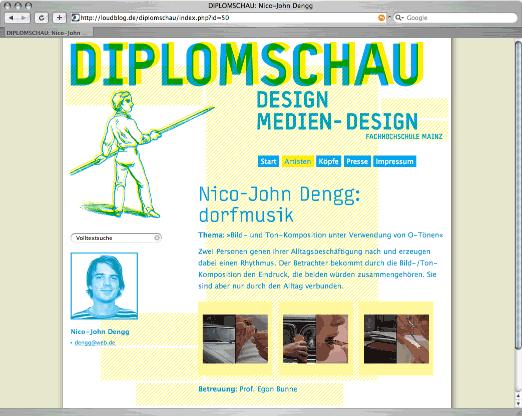 Diplomschau Website