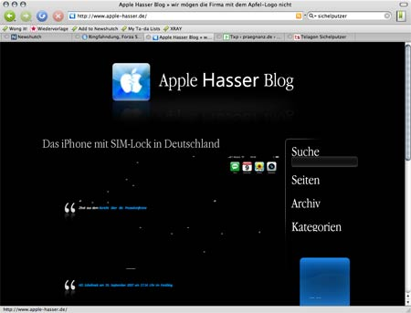 Apple Hasser Blog