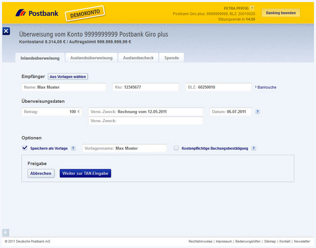 Gelungen: Das neue Postbank-Online-Banking | praegnanz.de