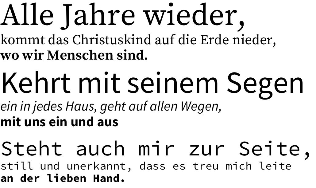 Freefont-Advent 24/24 – Source Sans/Serif/Code Pro | praegnanz.de
