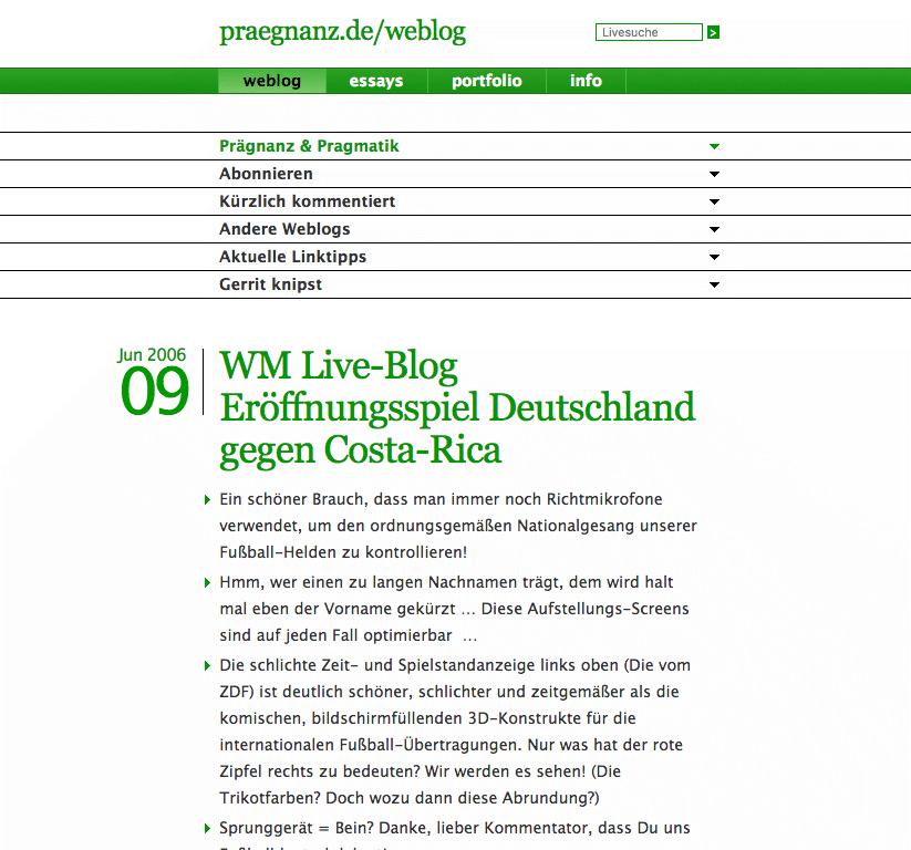 Screenshot von praegnanz.de v3