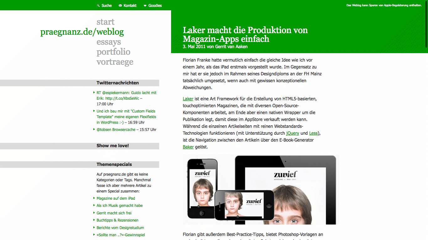 Screenshot von praegnanz.de v5